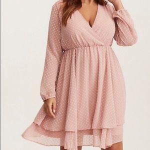 NWT Torrid Blush Flowy Dress- Size 3